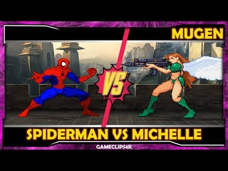 SpiderMan Vs Michelle Heart [Hard Fight] MUGEN CHAR
