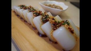 Корейская кухня: Желе из маша или нокту мук (чонпо мук) 녹두묵 (청포묵)