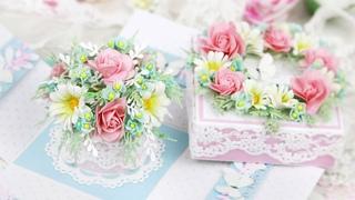 Коробочка с сюрпризом своими руками/подарок 8 Марта и 14 Февраля/ Explosion Box Card with flowers
