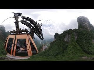 Аттракцион 360. Самый длинный в мире фуникулёр. Китай, Чжанцзяцзе