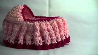 Crochet Cradle Purse Part 3 of 3 Bag / purse that turns into a Doll Cradle