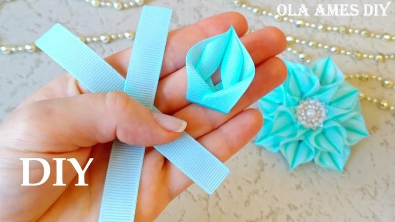 Только Посмотрите как КРАСИВО получилось 💗 Такие Нежные ЦВЕТЫ из ЛЕНТ 😍 DIY Ribbon Flowers Ola ameS