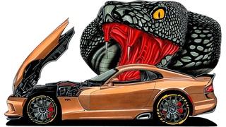 Рисуем Dodge Viper | How to draw Dodge Viper | Как нарисовать Додж Вайпер | Draw Dodge Viper