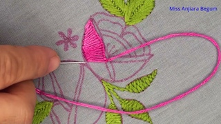 New Awesome Dress Design, New Awesome Stitching Idea, New Flower Stitching Idea, Needlework-459