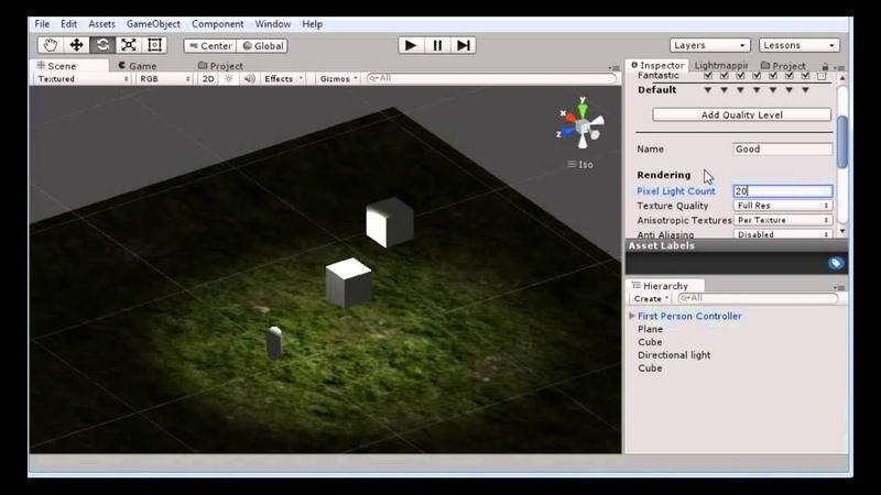 Освещение и тени в Unity 5 Как создать игру Урок 7