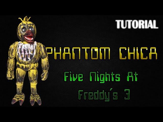 Tutorial Phantom Chica en Plastilina FNaF 3 Phantom Chica Clay Tutorial