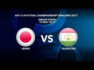 #AFCU20FC THAILAND 2017 - M26 Japan vs Tajikistan - Highlights