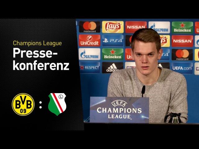 Pressekonferenz Matthias Ginter und Thomas Tuchel BVB Legia Warschau