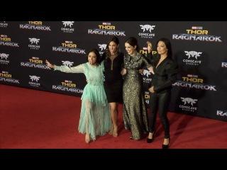 "Agents of . Chloe, Natalia, Elizabeth, Ming-Na ""Thor: Ragnarok"" World Premiere"