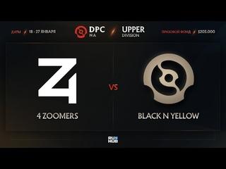 4 Zoomers vs Black N Yellow, Dota Pro Circuit 2021: S1 - NA, bo3, game 2 [Mila & Smile]