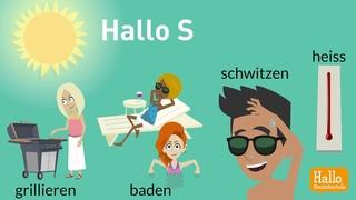 Deutsch lernen / Gefällt dir der Sommer? / Wortschatz-, Aussprache-Training Deutsch als Fremdsprache