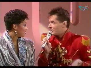 """FALCO - The Girl (Girls) from Ipanema als Gast bei """"Die große Lotto-Show"""" mit Alfred Biolek ©ORF1986"""