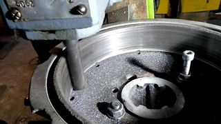 Проточка(фрезеровка) тормозного барабана на поворотном столе НГФ