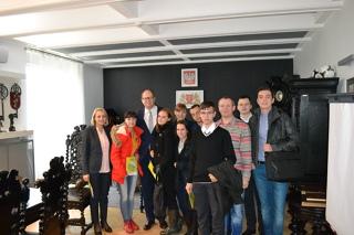 Встреча наших учеников-сегодня уже студентов с Мэром Гданьска
