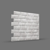 МЕТРО 3D панель облицовочная Rakitta серебристый мрамор