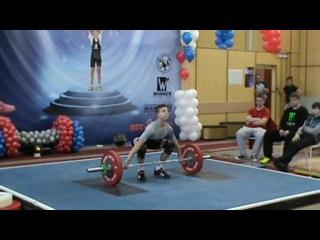 Масленков Дмитрий-рывок-77 кг-г Чехов Турнир Окунева  г.