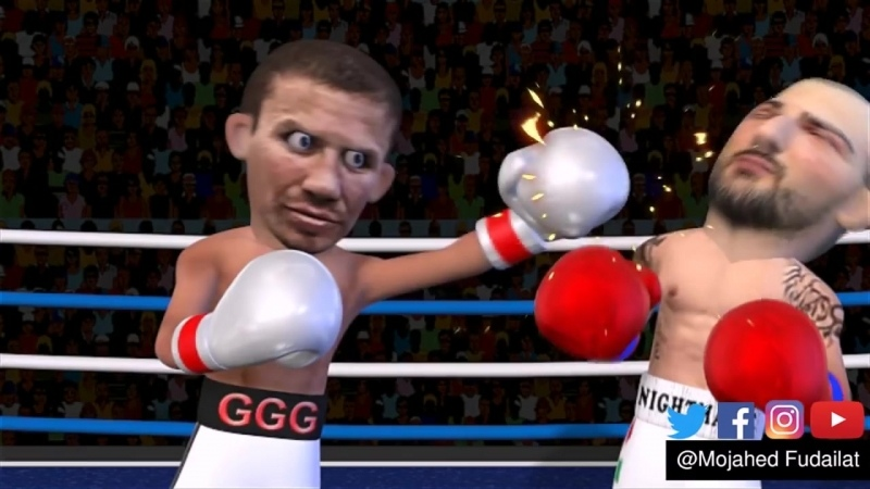 Gennady Golovkin GGG VS Vanes Martirosyan Highlights 3D анимация