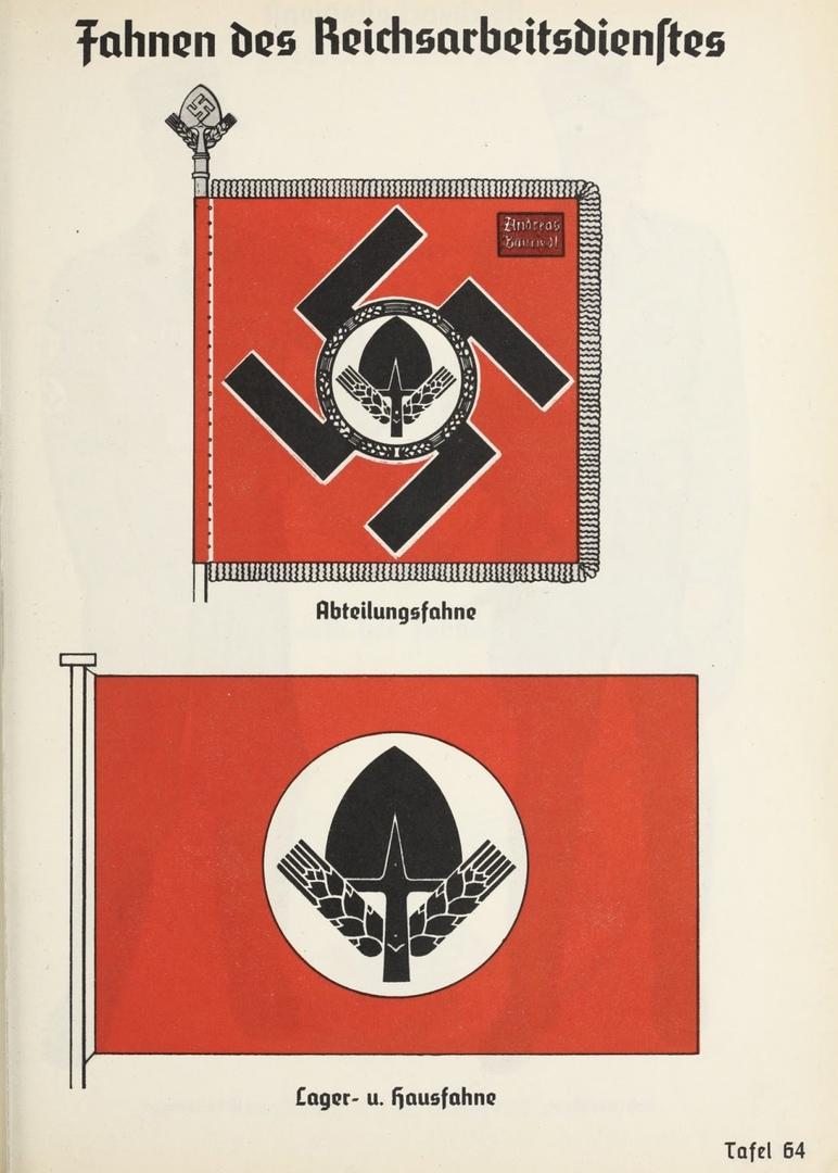 """Флаги """"Имперской службы труда"""". национал-социализм"""