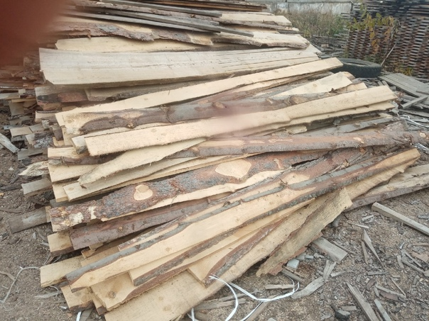 ПродамПиленая на дрова осиновая доска 5000,,, Доск...