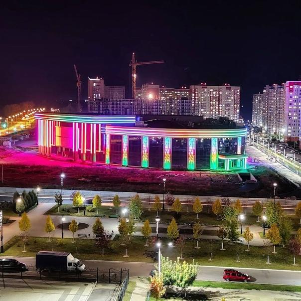 Огни ночного города Курск