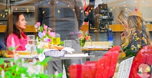 """Сара Джессика Паркер, Синтия Никсон и Кристин Дэвис на съемках продолжения """"Секса в большом городе"""""""