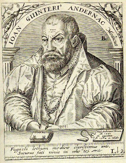 Иоганн Винтер (Гюнтер) фон Андернах, преподаватель греческого языка и анатомии в Сорбонне