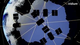 Как работает группировка Iridium на северном и южном полюсах