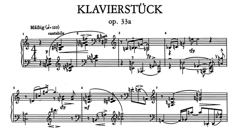 Schoenberg Klavierstück Op 33a Pollini