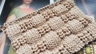 Вяжем узор с эффектом 3d объёма ☕🍂 knitting pattern.