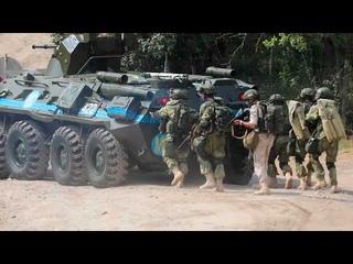 Тренировка российских миротворцев по обеспечению безопасности на наблюдательном посту