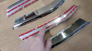 Накладки хромированные на решетку радиатора Лада Веста