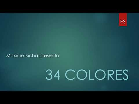 ¡Aprender 34 colores ES