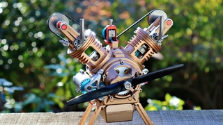 Oddly Satisfying V-Twin Model Engine Build - Unintentional ASMR