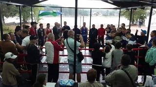 Матчевая встреча по боксу : Забайкальский округ vs С.П...
