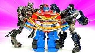 Роботы Трансформеры - Оптимус Прайм попал в Ловушку Десептиконов! – Видео игры битвы для мальчиков