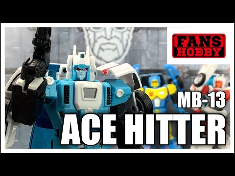 Fans Hobby MB 13 ACE HITTER Transformers Masterpiece Headmaster Junior GOSHOOTER Review