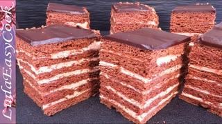 Шоколадный МЕДОВИК за 30 минут Спартак торт Люда Изи Кук ПРАЗДНИЧНАЯ ВЫПЕЧКА chocolate HONEY CAKE