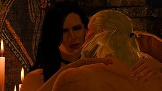 ВЕДЬМАК 3 Постельная сцена (секс) с Йеннифер| The Witcher 3  Sex Scenes