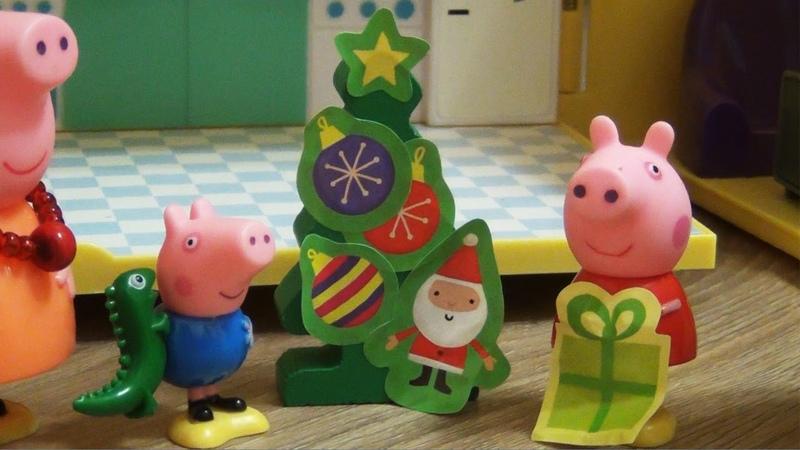 Пеппа и Джордж наряжают Новогоднюю Елку Мультфильм на русском